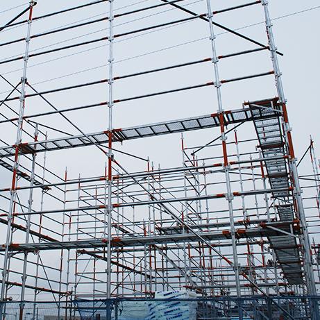 4.低層住宅工事用くさび緊結式足場